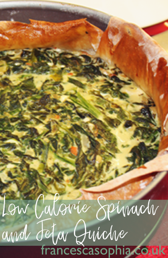 Low Calorie Spinach and Feta Quiche on francescasophia.co.uk