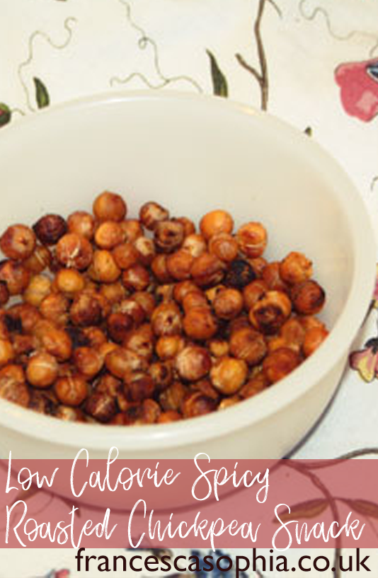 Low Calorie Spicy Chickpea Snack on francescasophia.co.uk