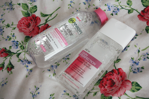 garnier micellar water and l'oreal skin perfection micellar solution on francescasophia.co.uk