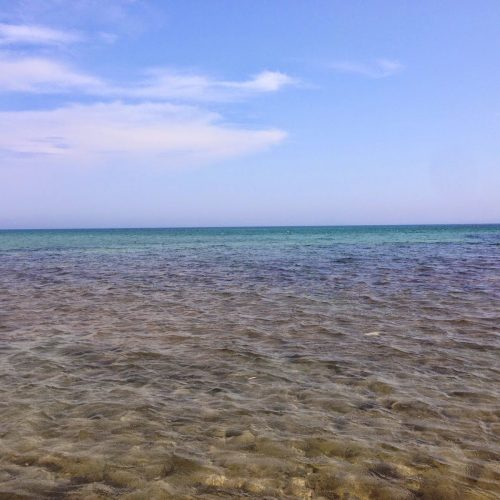 a view across the ocean from kefalonia