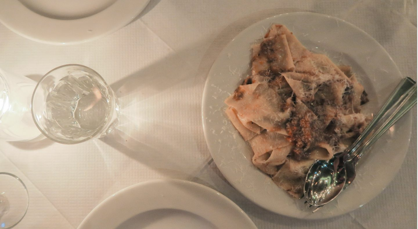 Pappardelle with beef shin ragu at Trullo London on francescasophia.co.uk